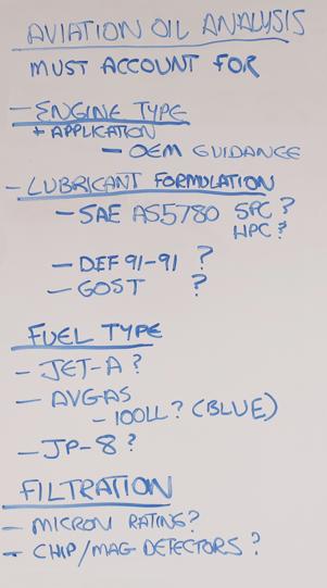 Aviation Oil analysis