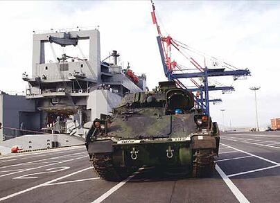 Tank on Aircraft Carrier